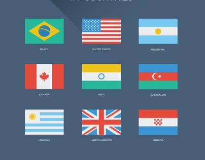 181 Flat World Flags