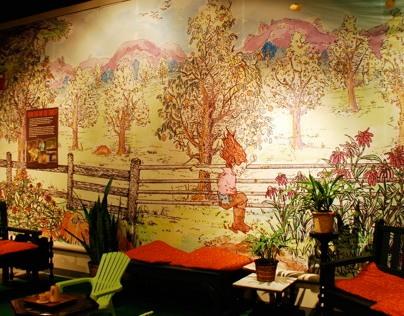"""""""Foodology"""" Mural for Missouri Botanical Garden, 2013"""
