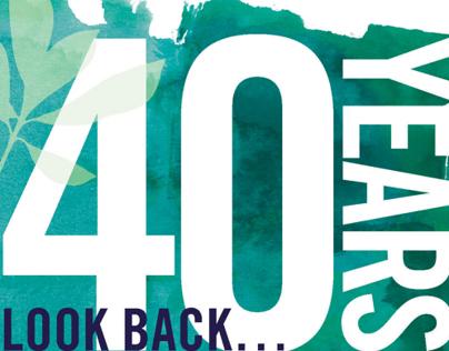 40th Anniversary program magazine