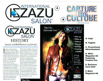 Izzazu Salon, Spa & Serata Sample Work Sheet