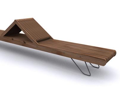 Plaza bench