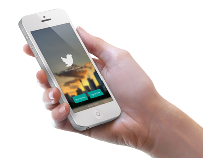 iOS 7 Twitter Sign In/Up Concept [ Re-Updated ]