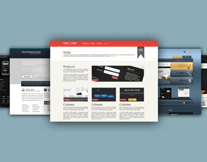Front-End - PSD to HTML/CSS Projects
