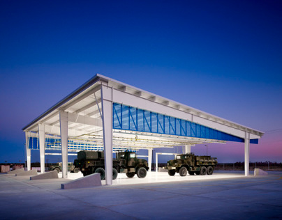 Laredo Vehicle Maintenance Canopy