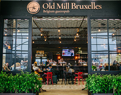 Old Mill Bruxelles. The interior, exterior and brand