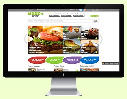 Munch Zone : Web App (UI,UX Design)