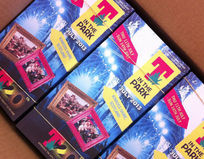 T in the Park tickets, flyers, laminates and more 2013