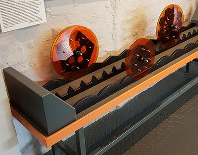 "exhibit ""bizarre shaped wheels"""