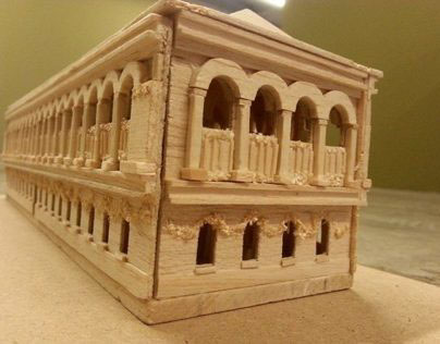 Model Making: Bibliotheque Sainte Genevive