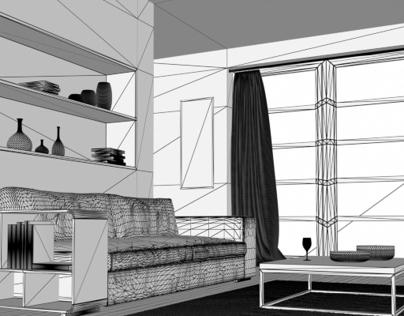 Simple render Interior ( Update )