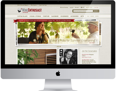 Wine Enthusiast Site Redesign