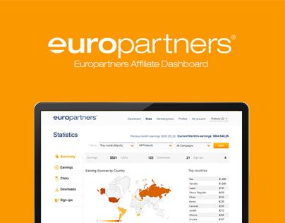 Europartnets Affiliates Dashboard