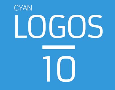 10 cyan logos