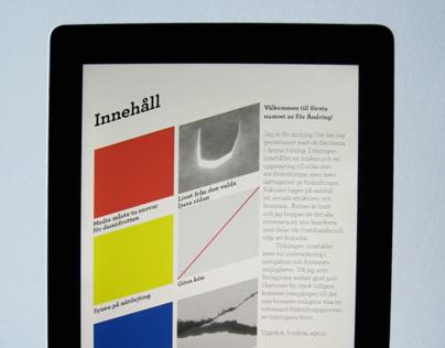 Exploring iPad magazine format