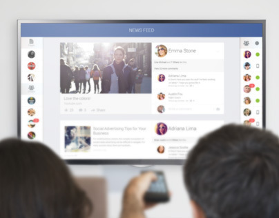 Facebook Smart TV App | UI/UX | User Experience