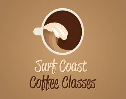 Logo and Flyer Design for Surf Coast Coffee Classes