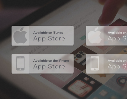 Freebie: Transparent App Store Button