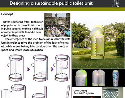 Movable public bathroom unit project