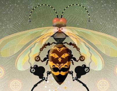 Title: Flight Patterns Series 'Cicada Killer'