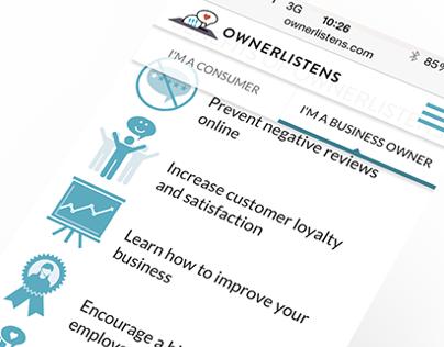 OwnerListens - Website Design