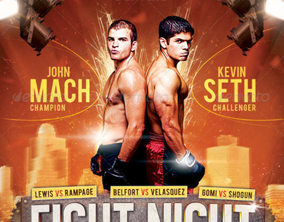 Fight Night MMA Boxing Flyer
