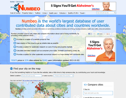 Numbeo redesign proposal