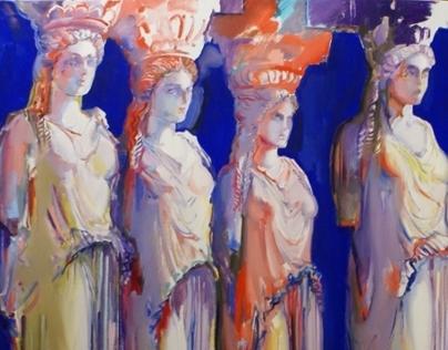 Ancient Greek oil paintings