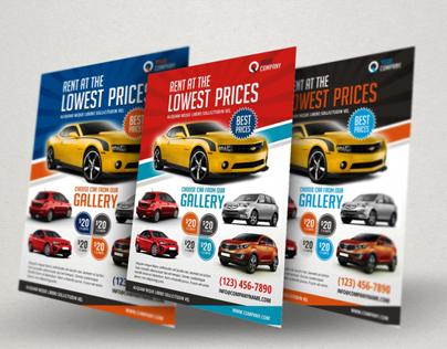 Creative Car Rental Flyer Ad Template On Behance  Car Flyers
