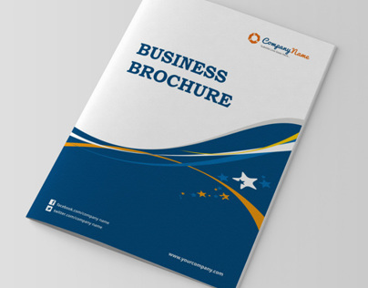 4 Page Corporate Bifold Brochure Template On Behance