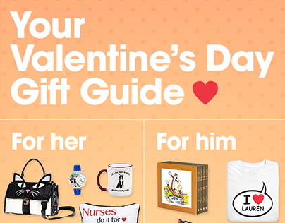 Valentine's Day Gift Guide Email Design