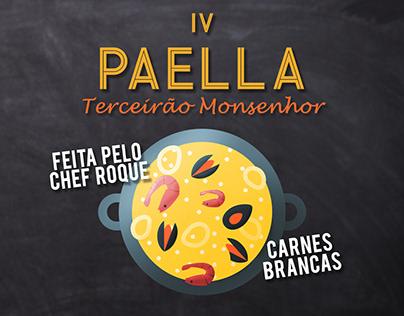 Midias Sociais - IV Paella do Terceirão Monsenhor
