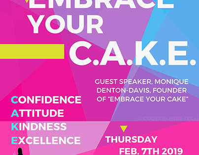 XX Coders Presents Embrace Your C.A.K.E.