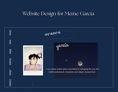 Web Design for Meme García