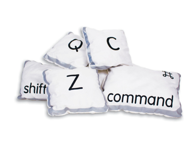 Computer Key Pillows