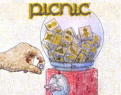 Picnic magazine illustration