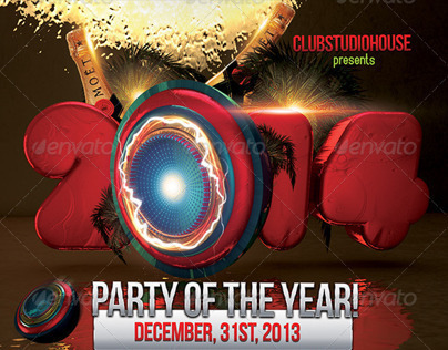 2014/2013 Party Of The Year Flyer Design