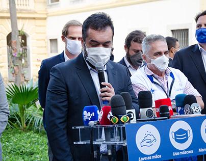 Governador em exercício Cláudio Castro