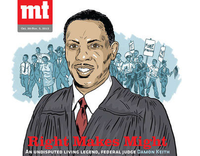 Judge Damon Keith Metro Times cover