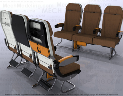 Commercial Passenger Aircraft Seating.