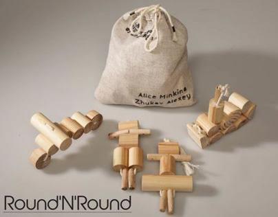 Round and round - wooden toy