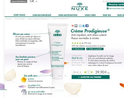 Nouveau site Nuxe (appel d'offre)