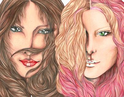 Girls with Strange Hair