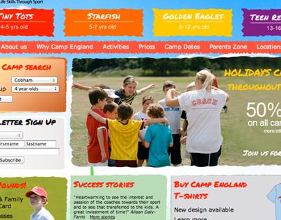 Camp England Website