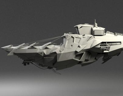 Hard Surface model of Scott Robertson's vehicle Design