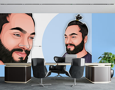 Cartoon or Vector portrait as a Wallpaper
