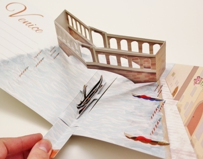 Pop-Up-Greeting Card - A Trip to Venice