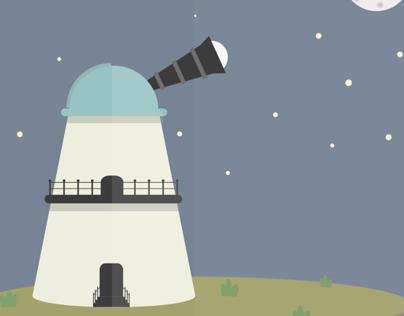 Observatory {Flat Illustration + .gif}