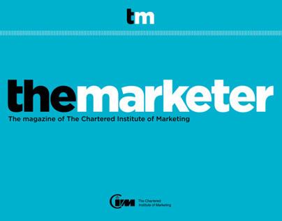 The Marketer website design