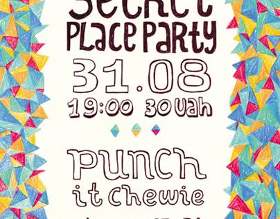 Poster for Secret Plase Party