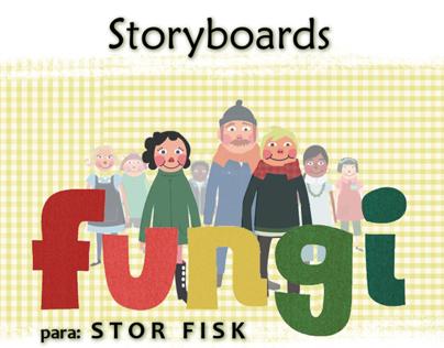 """Storyboards para """"Fungi"""" serieTV"""